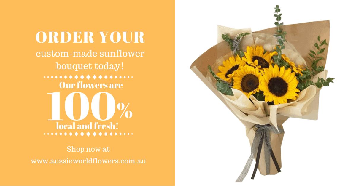 Sunflower Custom Made Bouquet Sunshine Coast